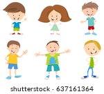 cartoon vector illustration of... | Shutterstock .eps vector #637161364
