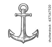 anchor isolated on white...   Shutterstock .eps vector #637167520