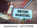 inbound marketing concept....   Shutterstock . vector #637175938