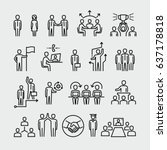 business people vector line...