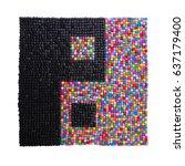 non standard square sign of... | Shutterstock . vector #637179400