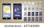 weather app widget vector...