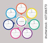 circle infographic template... | Shutterstock .eps vector #637186573