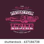 motorcycle engine repair emblem....   Shutterstock .eps vector #637186738