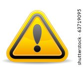 triangular warning sign on... | Shutterstock .eps vector #63719095