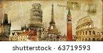 Vintage Postal Card   European...