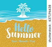 vector travel banner with the... | Shutterstock .eps vector #637196638