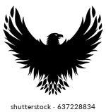 Vector Eagle Shield. Isolated...