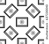 video icon seamless pattern on...