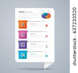 infographics design vector and... | Shutterstock .eps vector #637233520