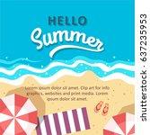 hello summer concept vector... | Shutterstock .eps vector #637235953