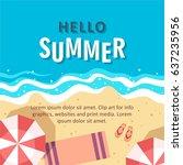 hello summer concept vector...   Shutterstock .eps vector #637235956