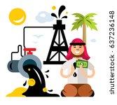 vector arab petroleum industry. ... | Shutterstock .eps vector #637236148