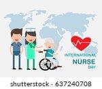 international nurse day. young... | Shutterstock .eps vector #637240708