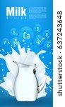 milk flyer design vector... | Shutterstock .eps vector #637243648