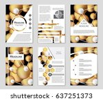 abstract vector layout... | Shutterstock .eps vector #637251373