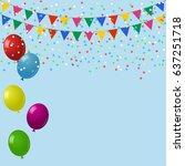 celebrate background. festive... | Shutterstock .eps vector #637251718