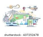 site travel agency. planning... | Shutterstock .eps vector #637252678