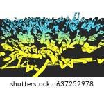 illustration of cheerful crowd... | Shutterstock .eps vector #637252978