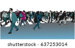 illustration of large mixed...   Shutterstock .eps vector #637253014