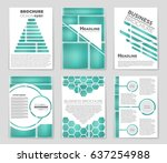 abstract vector layout... | Shutterstock .eps vector #637254988