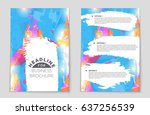 abstract vector layout... | Shutterstock .eps vector #637256539