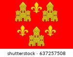 flag of chinon is a commune... | Shutterstock .eps vector #637257508