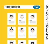 recruitment. find person for... | Shutterstock .eps vector #637259704