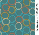 seamless pattern with hand... | Shutterstock .eps vector #637262950