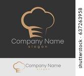 restaurant logo | Shutterstock .eps vector #637263958
