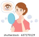 a young woman in the shadows... | Shutterstock .eps vector #637270129