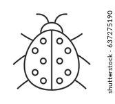 Ladybug Linear Icon. Thin Line...