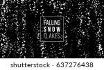 falling snow on black...   Shutterstock .eps vector #637276438