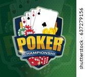 vector illustration on a casino ... | Shutterstock .eps vector #637279156