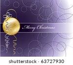 christmas background. eps10. | Shutterstock .eps vector #63727930