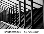 wood house skeleton of roof  ... | Shutterstock . vector #637288804