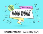 ribbon banner with text hard... | Shutterstock . vector #637289464