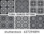 seamless pattern tile with... | Shutterstock .eps vector #637294894