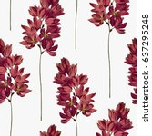Stock vector botanical seamless pattern vector floral background 637295248