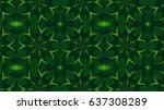 Kaleidoscopic Forest Green...