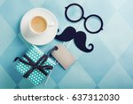 happy father s day greeting... | Shutterstock . vector #637312030