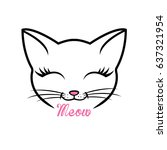 cat vector illustration | Shutterstock .eps vector #637321954