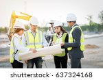female engineer at a... | Shutterstock . vector #637324168