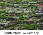 Brick Wall And Moss