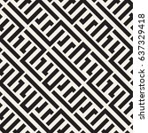 interlacing lines maze lattice. ... | Shutterstock .eps vector #637329418
