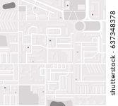 city layout  map. monochrome... | Shutterstock .eps vector #637348378