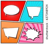 abstract creative concept comic ...   Shutterstock .eps vector #637348924