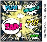 abstract creative concept comic ... | Shutterstock .eps vector #637350793