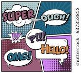 abstract creative concept comic ... | Shutterstock .eps vector #637353853