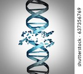 damaged dna and genetic... | Shutterstock . vector #637356769